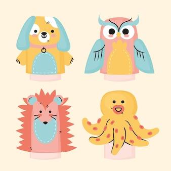 크리 에이 티브 손 인형 컬렉션