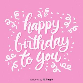 Creative happy birthday lettering background