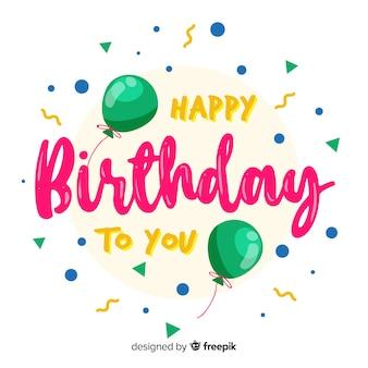 Creative happy birthday lettering concept