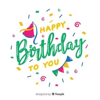 Креативная концепция с днем рождения надписи