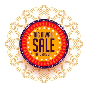Creative happy diwali sale background