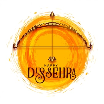 Creative happy dussehra festival greeting