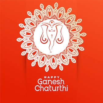 Creative happy ganesh chaturthi festival greeting