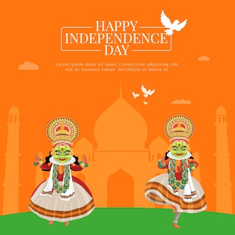 Creative happy independence day banner design template
