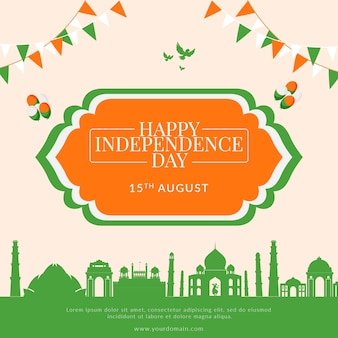 Creative happy indian independence day banner template