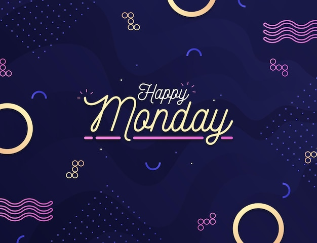 Creative happy monday background