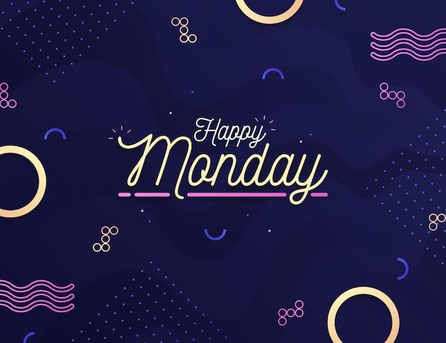 創造的な幸せな月曜日の背景