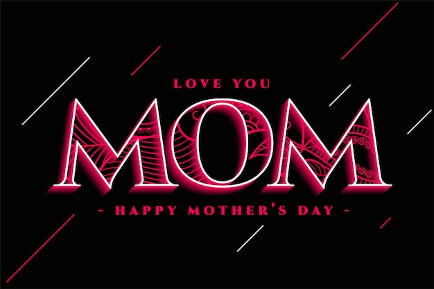 Creative happy mother's day greeting design