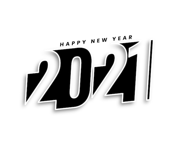 Creativo felice anno nuovo 2021 sfondo in stile 3d design