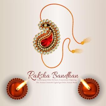 クリエイティブハッピーラクシャバンダンお祝いカードの背景