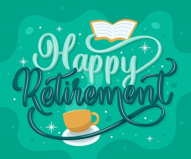 創造的な幸せな退職レタリング