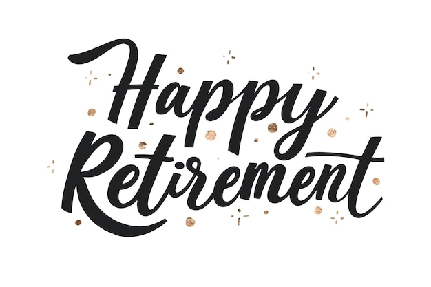 Творческая счастливая пенсионная надпись