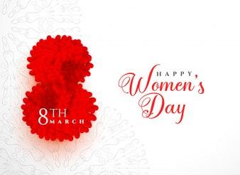 Творческий счастливый женский день дизайн фона