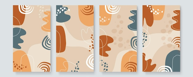 Креативный вектор предпосылки дизайна обложки твердой краской. минималистичный модный образец органических форм с местом для копирования текста для приглашения, праздничного билета, обложек для социальных сетей и страницы историй