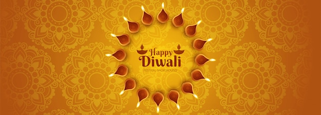 Creative or header poster for shubh diwali