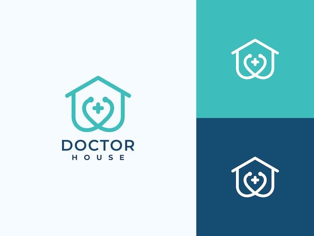 Creative health care medical home logo