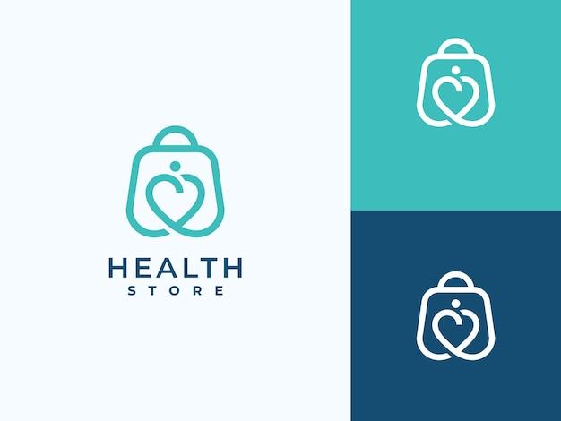 Creative health care medical store logo