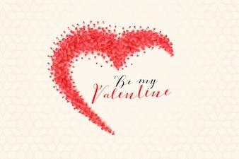 バレンタインデーのための創造的な心の背景