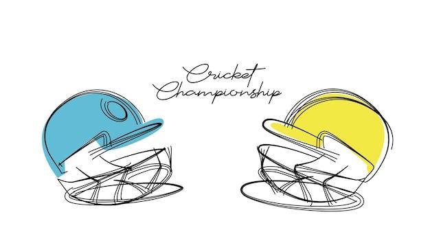 クリケット選手権の粒子の概念のための創造的なヘルメット