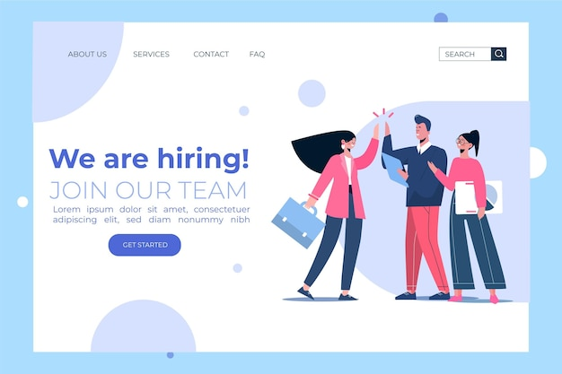 Creative hiring home page template