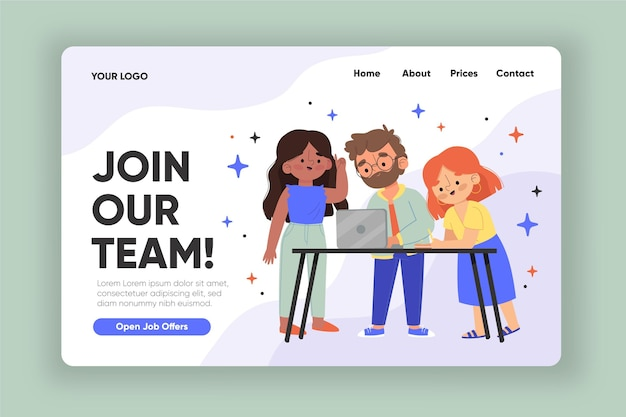 Creative hiring home page