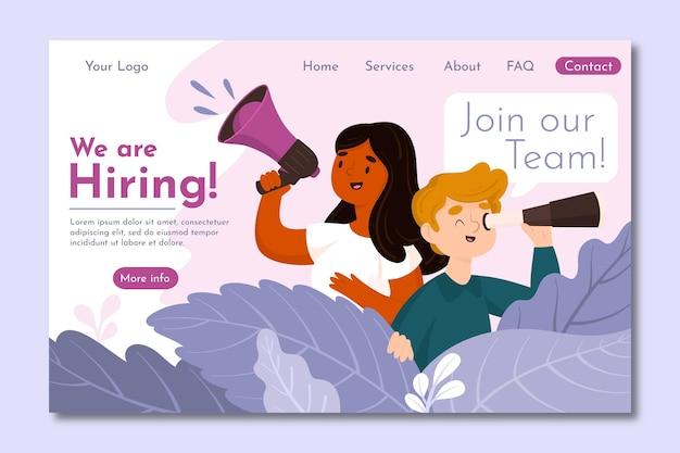 Creative hiring landing page
