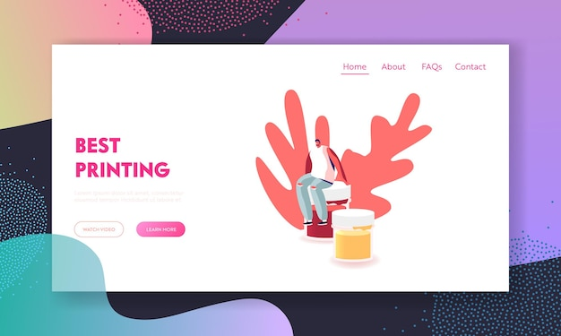 Creative hobby, drawing class or painting workshop landing page template