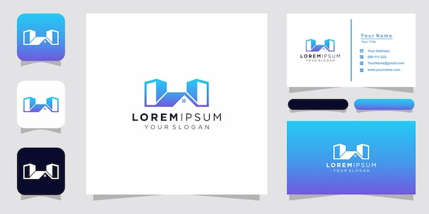 Creative home and building logo and business card