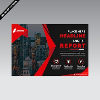 Creative horizontal flyer template premium vector