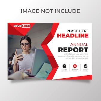 Creative horizontal flyer template