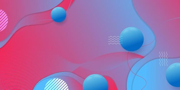 レスポンシブウェブデザインプロジェクト開発のためのクリエイティブな水平ウェブサイト画面部分。抽象的な幾何学模様のバナーレイアウトのモックアップ。企業のランディングページブロックベクトルイラストテンプレート