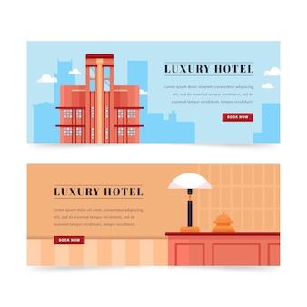Modello di banner hotel creativo con foto