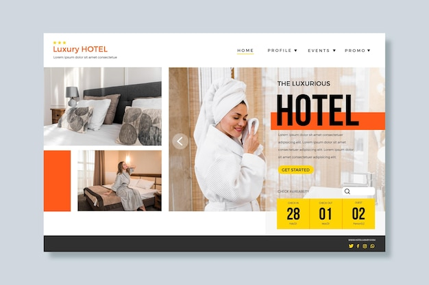 사진이있는 창의적인 호텔 방문 페이지