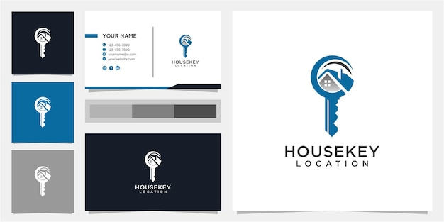 クリエイティブハウスとキーのロゴデザインテンプレート