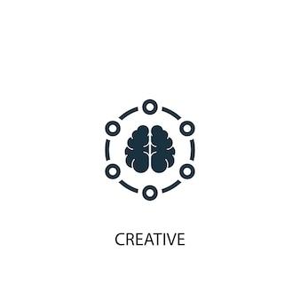 크리에이 티브 아이콘입니다. 간단한 요소 그림입니다. 크리에이 티브 개념 기호 디자인입니다. 웹 및 모바일에 사용할 수 있습니다.