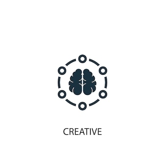 Creative icon. simple element illustration. creative concept symbol design. can be used for web and mobile.