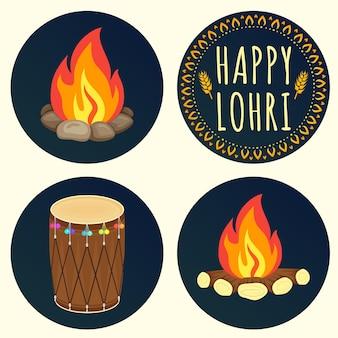 해피 로리 축하를 위한 크리에이티브 아이콘