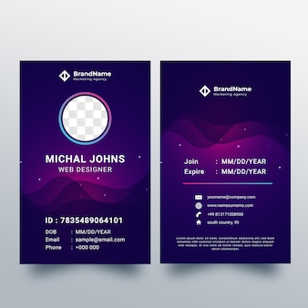 Creative id card design tempate