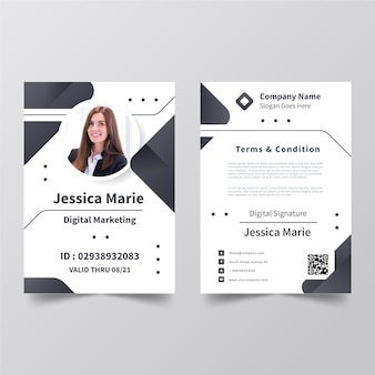 Creative id cards template with picture