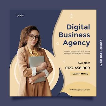 소셜 미디어 게시물 및 배너를 위한 창의적인 아이디어와 현대적인 개념의 디지털 비즈니스 에이전시