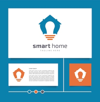창의적인 아이디어와 현대적인 디자인 개념 벡터 스마트 홈 로고