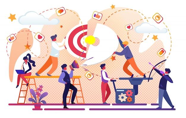 Creative idea of business success.