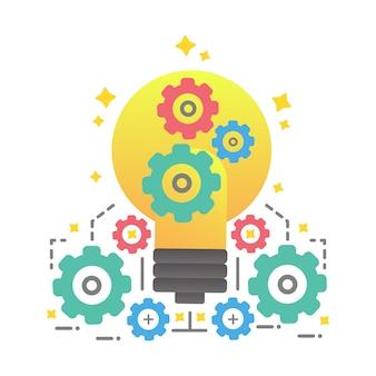 Creative idea concept, idea design for business creative