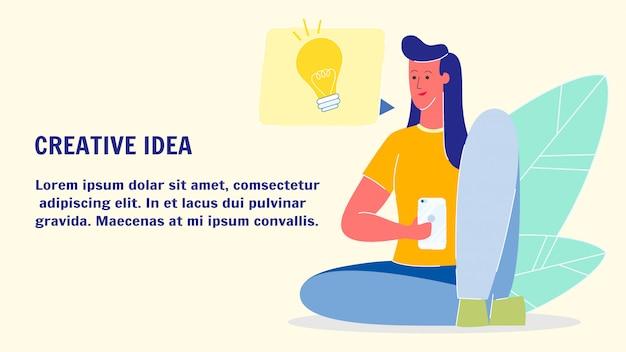 Creative idea flat vector web banner template