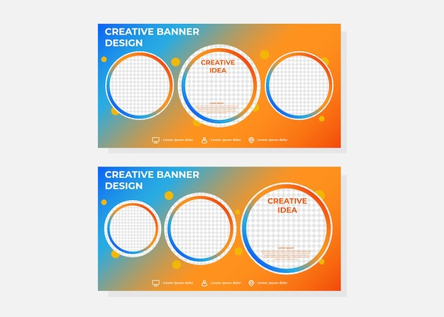 Creative idea gradient banner template