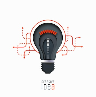 クリエイティブなアイデア発明インスピレーションイノベーションソリューションペーパーカットランプ