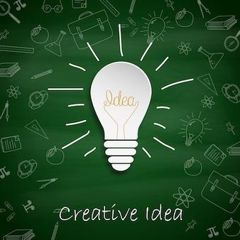Концепция лампочки для творческой идеи