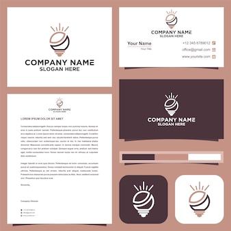 창의적인 아이디어 로고와 명함