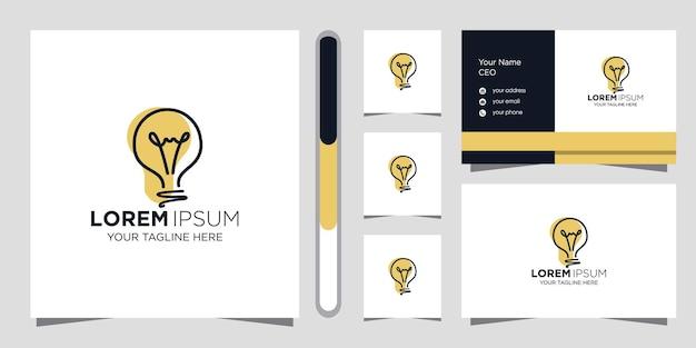 창의적인 아이디어 로고 디자인 및 명함 템플릿입니다.
