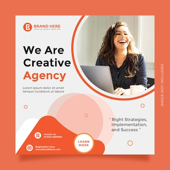 Creative idea and modern concept creative agency design for social media post and banner promotion